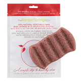 The Konjac Sponge Company 6 Wave Body Sponge with Red Clay