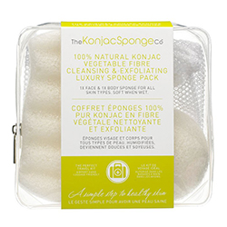The Konjac Sponge Company Facial and Body Sponge Bag Duo Pack 100% Pure