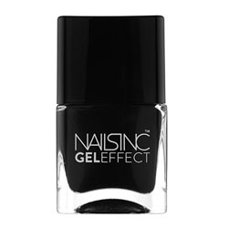 Nails Inc Black Taxi Gel Effect Nail Polish