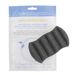 The KonjacSponge Company 6 Wave Body Sponge with BambooCharcoal